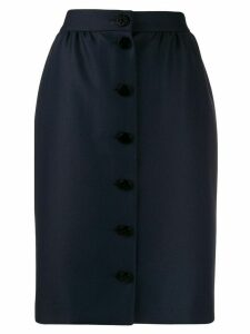 Paule Ka high-waist button-up skirt - Blue