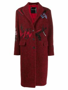 Ermanno Scervino multi-embroidered detail coat