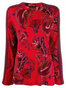 Etro paisley print blouse - Red