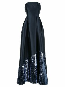Sachin & Babi satin evening dress - Blue