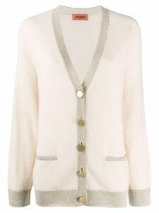 Missoni long sleeve knit cardigan - Neutrals