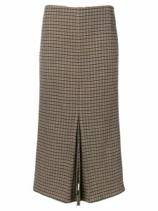 Victoria Beckham fitted tweed skirt - Black