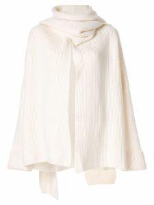 Nehera oversized cardigan coat - White