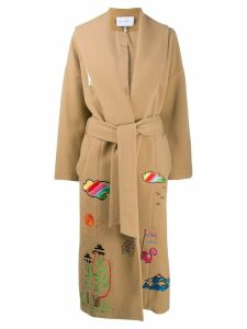 Mira Mikati belted trenchcoat - Neutrals