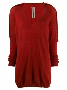 Rick Owens cashmere V-neck knitted sweater - Orange