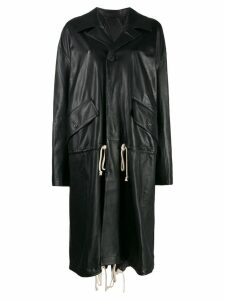 Plan C drawstring coat - Black