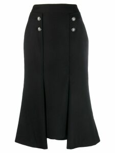 Alexander McQueen buttoned asymmetric skirt - Black
