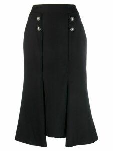 ALEXANDER MCQUEEN buttoned asymmetric skirt - Black