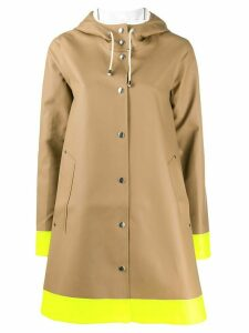 Stutterheim hooded trapeze raincoat - Brown