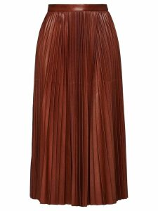 Prada Sunray pleated skirt - Brown