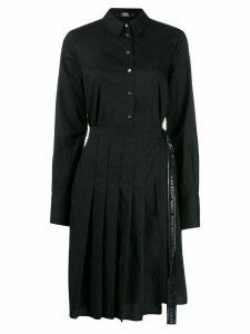 Karl Lagerfeld poplin pleated shirt dress - Black