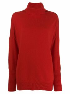 Chinti & Parker roll neck cashmere jumper - Red