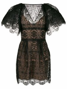 Alberta Ferretti short lace dress - Black