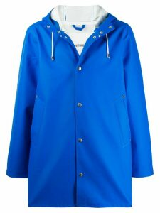Stutterheim drawstring hooded coat - Blue