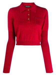 Dolce & Gabbana cropped sweater - Red