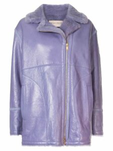 Emilio Pucci off-centre zipped jacket - Purple