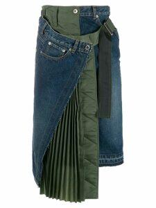 Sacai deconstructed denim skirt - Blue