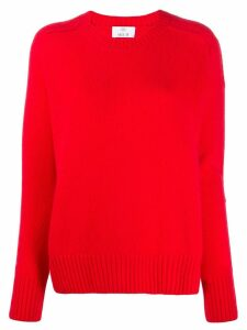Allude crew-neck cashmere sweater - Red