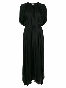 Stella McCartney pleated long dress - Black