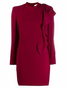 Iro ruffle fitted mini dress - Red