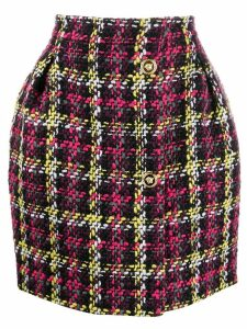 Versace woven checked mini skirt - Pink