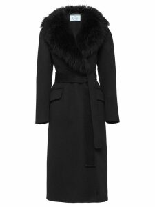 Prada Double cashogora coat - Black