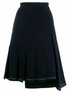 Marni asymmetric hem skirt - Blue
