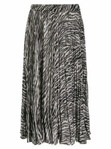 Michael Michael Kors leopard print pleated skirt - Black