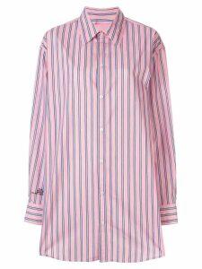 Marc Jacobs oversized pinstripe shirt - Pink