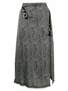 Versace herringbone midi skirt - Black