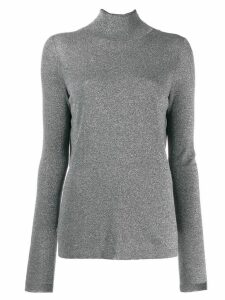 Karl Lagerfeld sparkle open back sweater - Silver