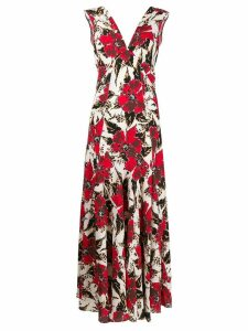 colville floral print maxi dress - Red