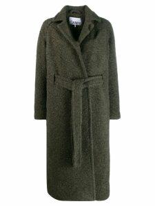 Ganni belted coat - Green