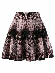 Alexander McQueen intarsia knit floral skirt - Black