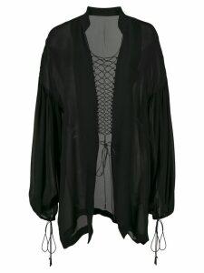Dion Lee coil detail blouse - Black