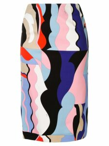 Emilio Pucci printed pencil skirt - Multicolour