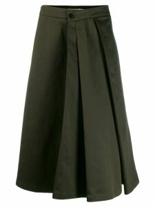 Barena flared pleated skirt - Green