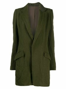 Y's fitted single-breasted coat - Green