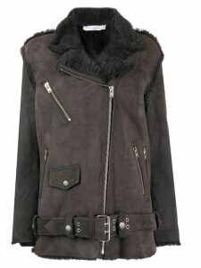 Iro shearling zip detail coat - Grey