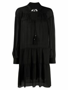 Michael Michael Kors long-sleeve flared dress - Black
