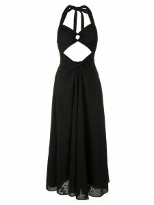 Reinaldo Lourenço halterneck cut out dress - Black