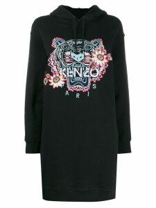 Kenzo tiger embroidered hoodie dress - Black
