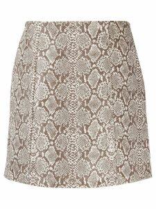 Alexa Chung python print skirt - Brown
