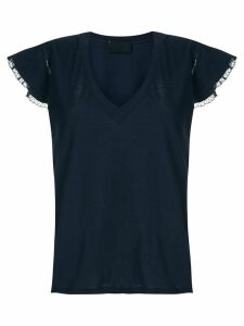 Andrea Bogosian lace trimming Pleasure T-shirt - Blue
