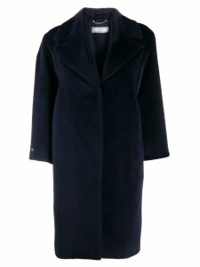 Peserico textured mid-length coat - Blue