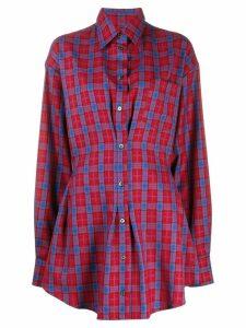 Unravel Project plaid shirt dress - Blue