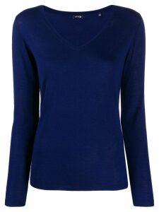 Aspesi v-neck knitted top - Blue