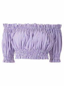 Andrea Bogosian Pri check cropped top - Purple