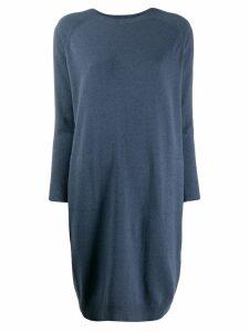 Peserico draped jumper dress - Blue