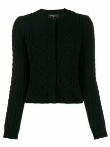 Paule Ka cable-knit cardigan - Black